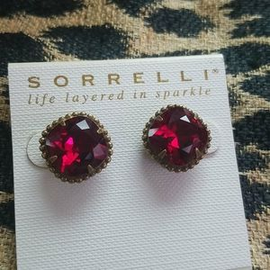 Red Sorrelli Studs New NWT Red Hot!!!